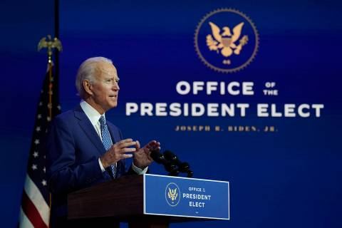President-elect Joe Biden. (AP Photo/Carolyn Kaster)