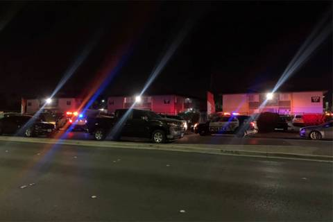 Las Vegas police are investigating a homicide Monday, Jan. 18, 2021, in the eastern Las Vegas V ...