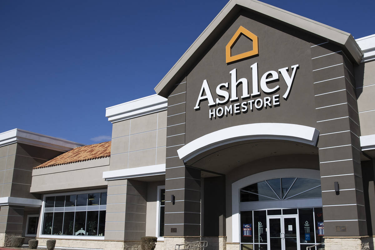 Ashley furniture store at 9200 W. Sahara Ave., photographed on Wednesday, Jan. 20, 2021, in Las ...