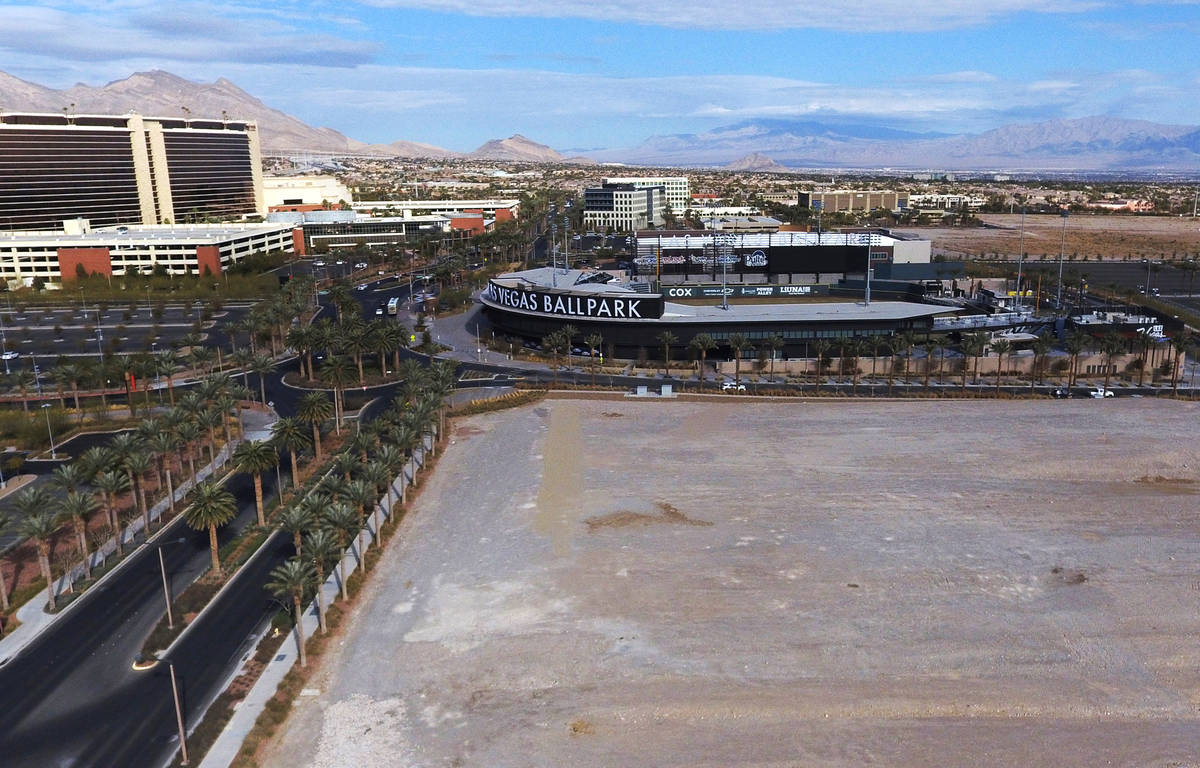 A vacant lot near Las Vegas Ballpark is photographed on Wednesday, Jan. 20, 2021, in Summerlin. ...