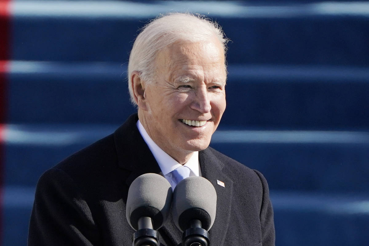 President Joe Biden speaks during the 59th Presidential Inauguration at the U.S. Capitol in Was ...