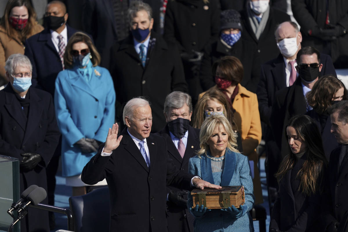 Joe Biden is sworn in as the 46th President of the United States on Capitol Hill in Washington ...