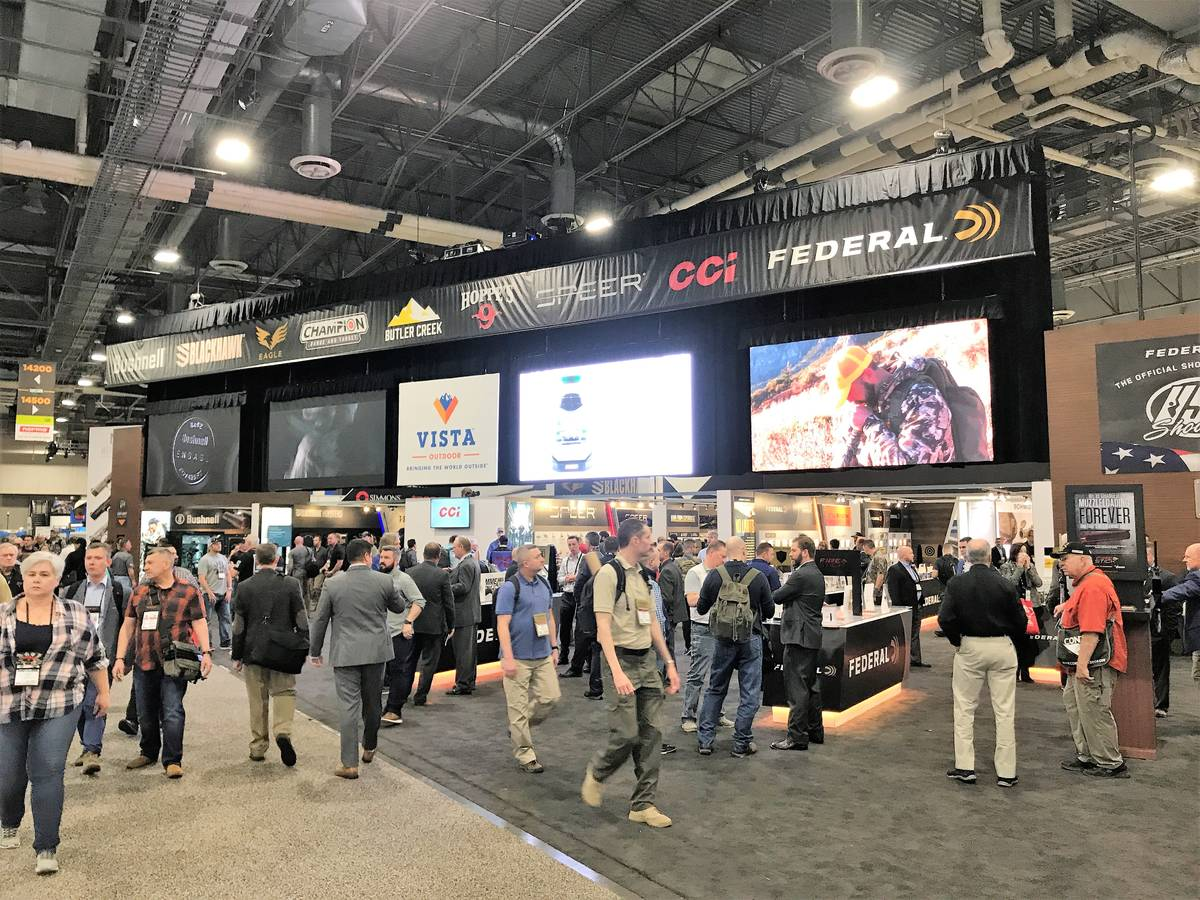Attendees at the 2020 SHOT Show gathered at the Sands Expo Center in Las Vegas to talk about al ...