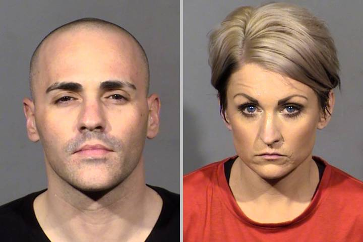 Steven Gazlay, left, and Dana Bevers. (Las Vegas Metropolitan Police Department)