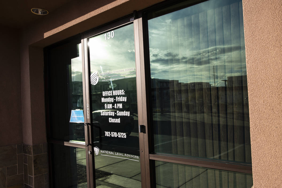 A business at 5588 S. Fort Apache Road, Suite 130, in Las Vegas on Friday, Jan. 22, 2021. A Las ...