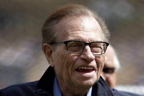 FILE - This April 1, 2013 file photo shows talk show host Larry King attends a season-opening b ...