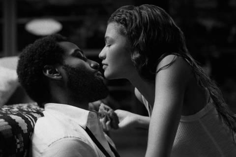 "John David Washington portrays Malcolm and Zendaya stars as Marie in ""Malcolm & Marie."" (Domini ..."