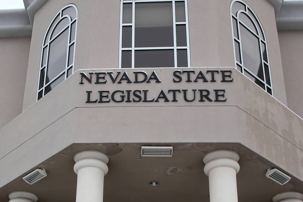 The Nevada Legislative Building in Carson City (K.M. Cannon/Las Vegas Review-Journal) @KMCannon ...