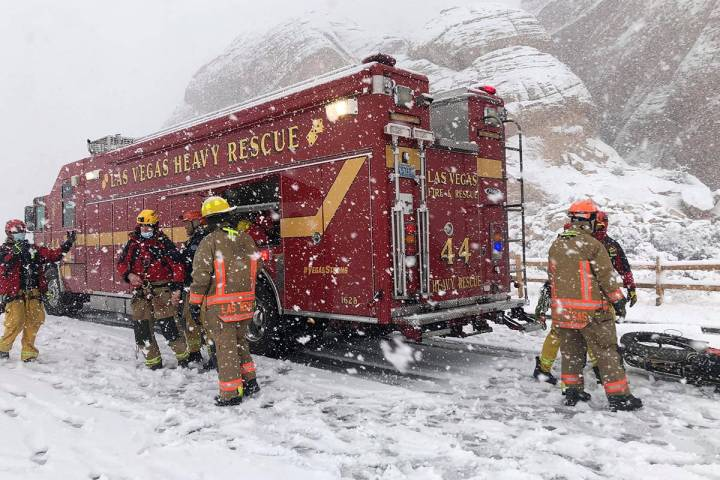 An injured hiker was rescued near Red Rock Canyon National Conservation Area on Monday, Jan. 25 ...