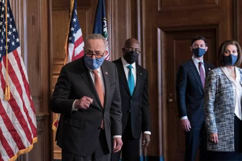 On the first full day of the Democratic majority in the Senate, Majority Leader Chuck Schumer, ...