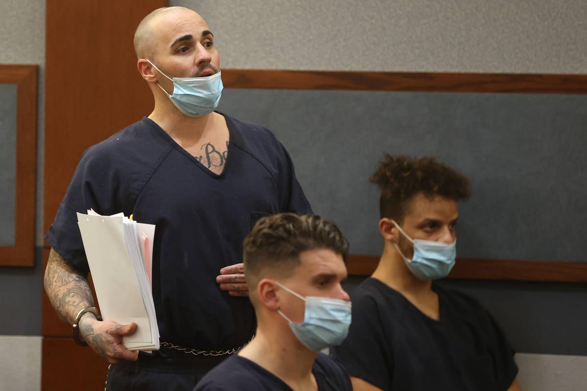 Ex-311 Boyz gang member Steven Gazlay appears in court at the Regional Justice Center in Las Ve ...