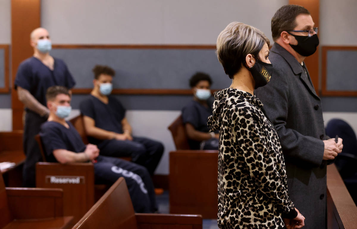 Dana Nee appears in court with her attorney, Paul Andras, right, and co-defendant, ex-311 Boyz ...