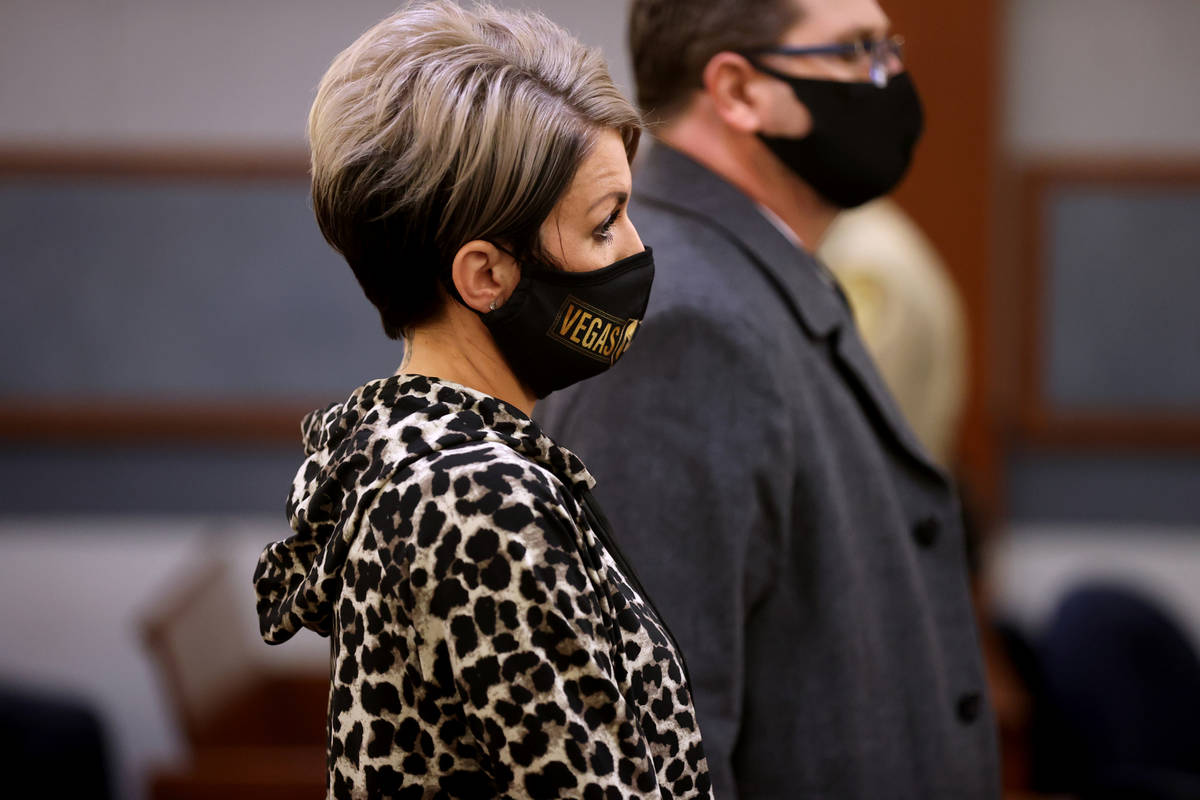 Dana Nee appears in court with her attorney, Paul Andras, at the Regional Justice Center in Las ...