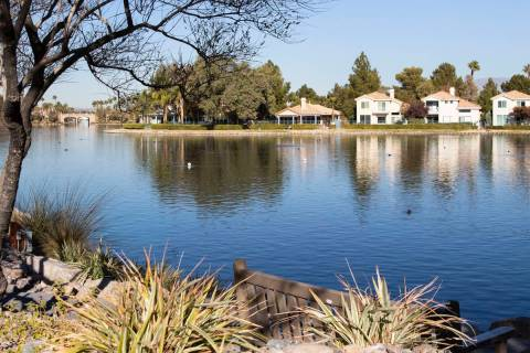 Lake Jacqueline is seen where a woman's body was found floating at Regatta and Mariner drives, ...