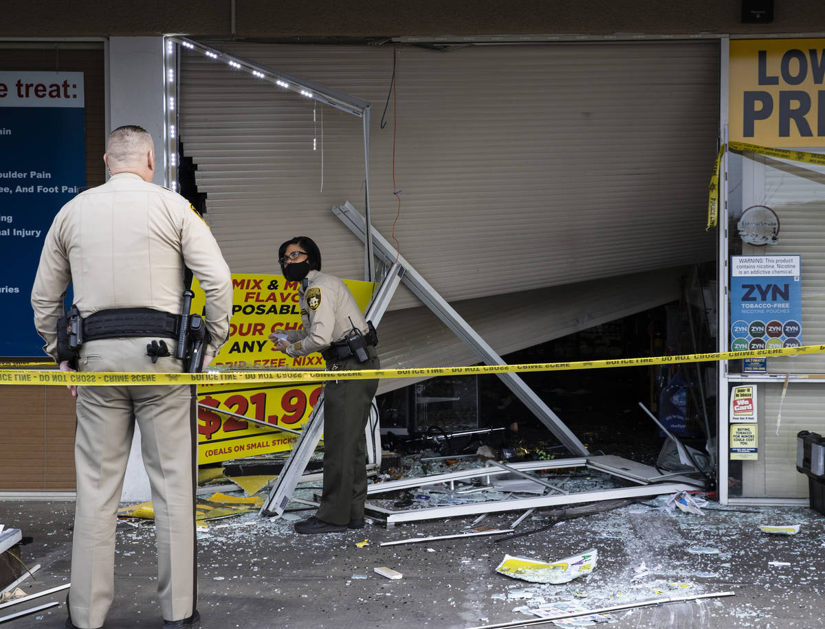 The Metropolitan Police Department is investigating after a car crashed into a smoke shop as pa ...