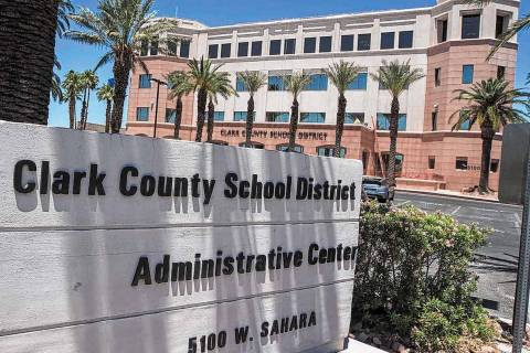 Clark County School District administration building (Las Vegas Review-Journal/File)