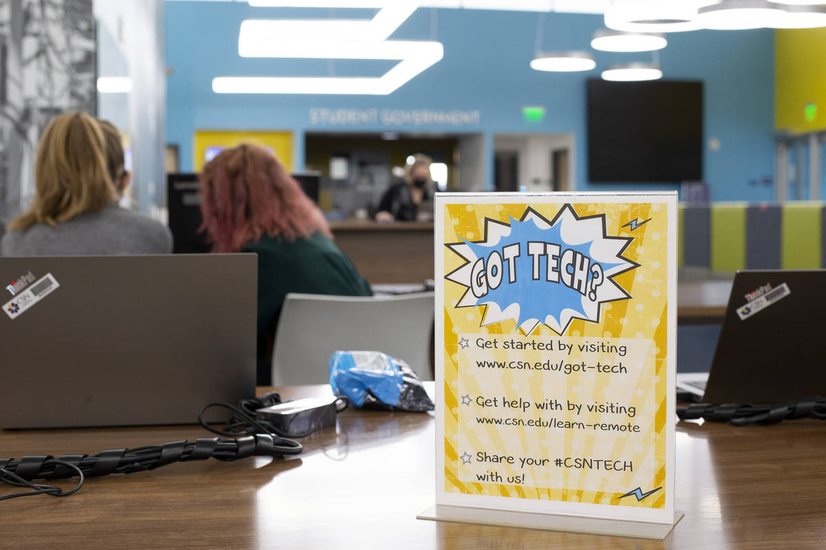 A program to put free laptops in the hands of some College of Southern Nevada students is under ...
