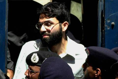 FILE - In this March 29, 2002 file photo, Ahmed Omar Saeed Sheikh, the alleged mastermind behin ...