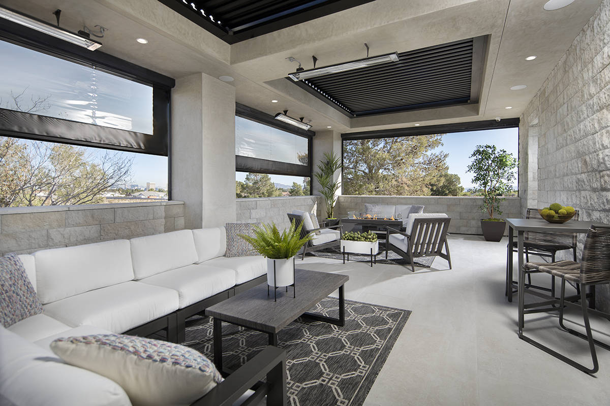 There is a sky deck off the side of the second story with a view of the Strip. (Sunstate Realty)