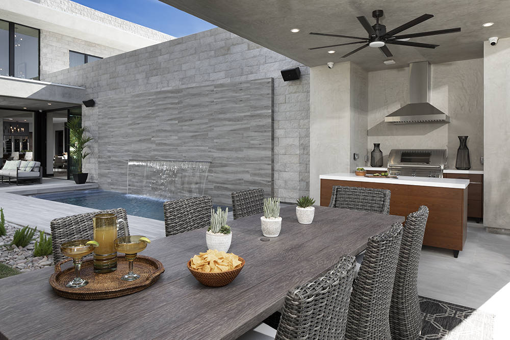 The outdoor kitchen. (Sunstate Realty)