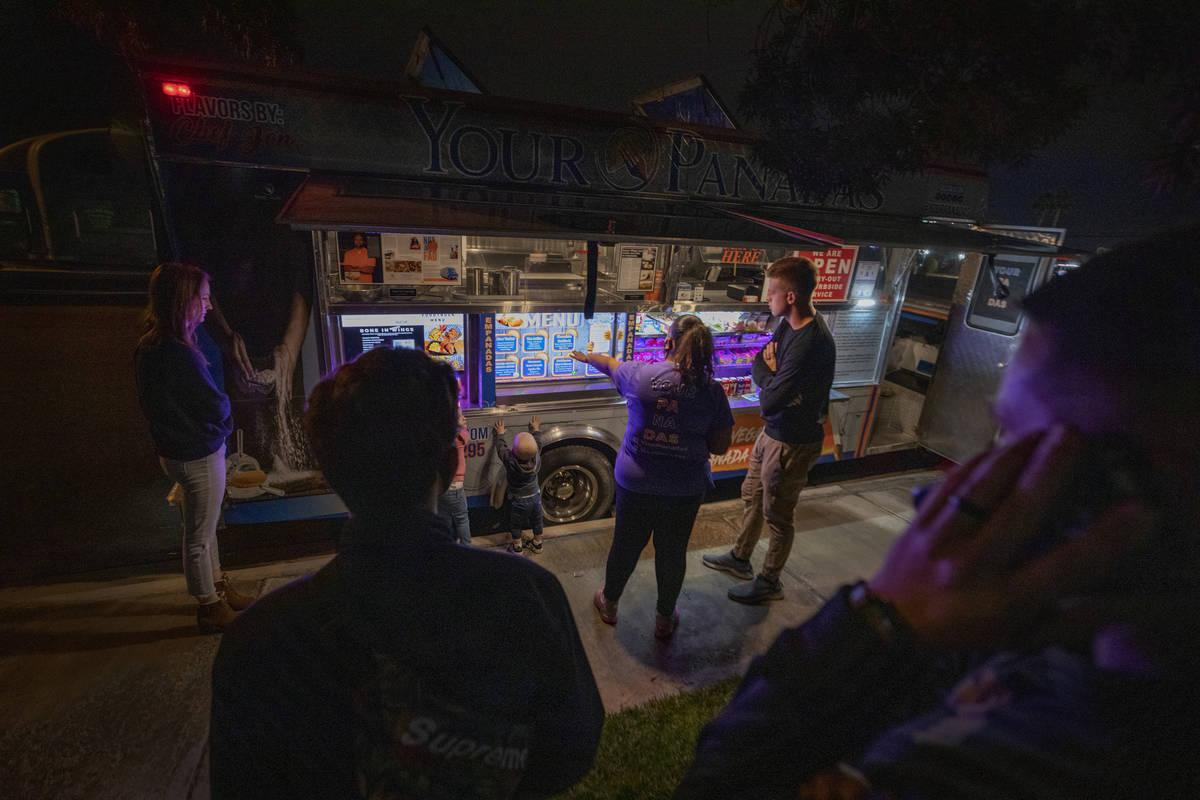 YourPanadas empanada truck is seen parked near Aviata Apartments in Las Vegas on Friday, Nov. 2 ...