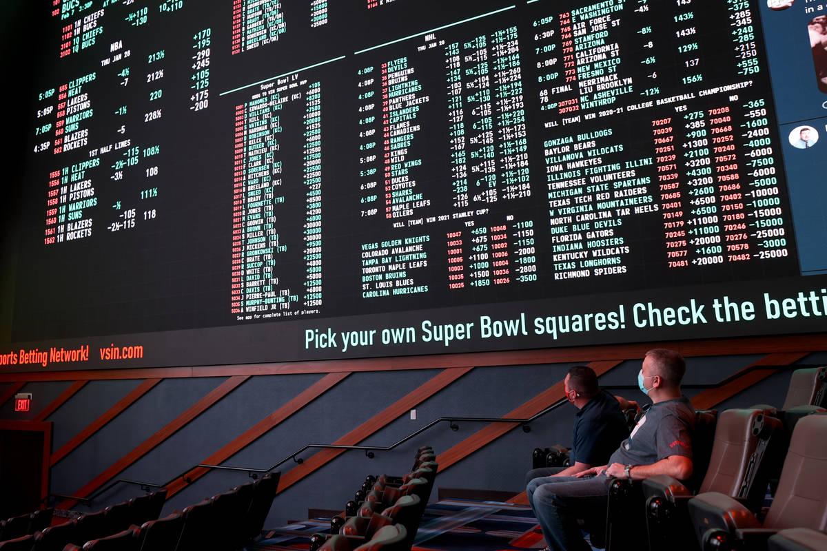 Circa sportsbook in downtown Las Vegas Thursday, Jan. 28, 2021. (K.M. Cannon/Las Vegas Review-J ...