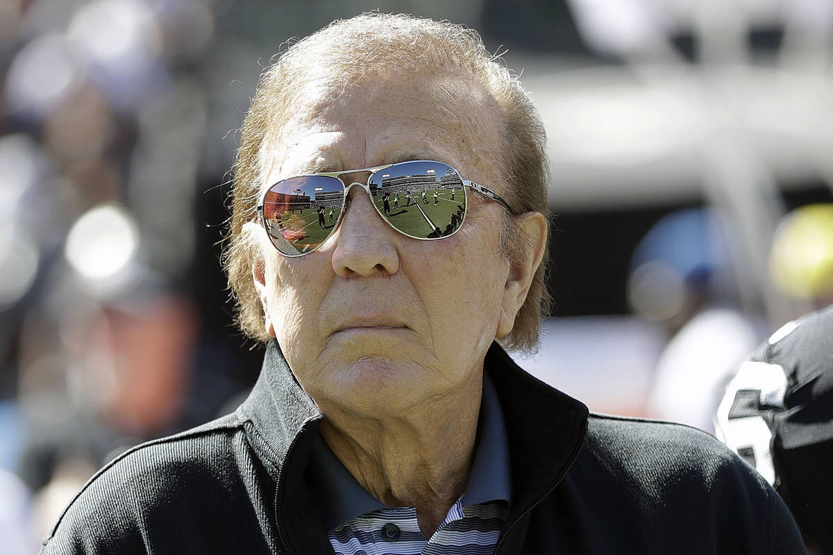 In this Oct. 12, 2016, file photo, former Oakland Raiders head coach Tom Flores is shown before ...