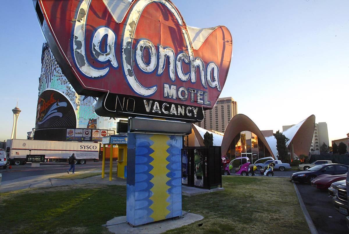 La Concha Motel is due for demolition to make way for new construction. (Gary Thompson/Las Vega ...