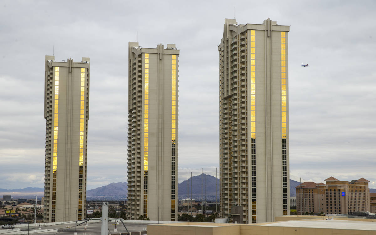 The MGM Signature trio are some of the condos about the Las Vegas Strip on Tuesday, Jan. 26, 20 ...