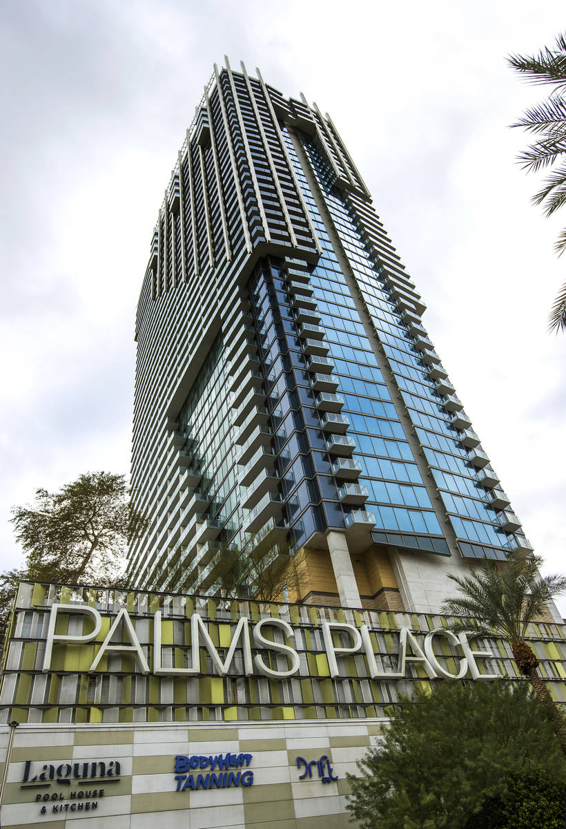The Palms Place are some of the condos about the Las Vegas Strip on Tuesday, Jan. 26, 2021, in ...