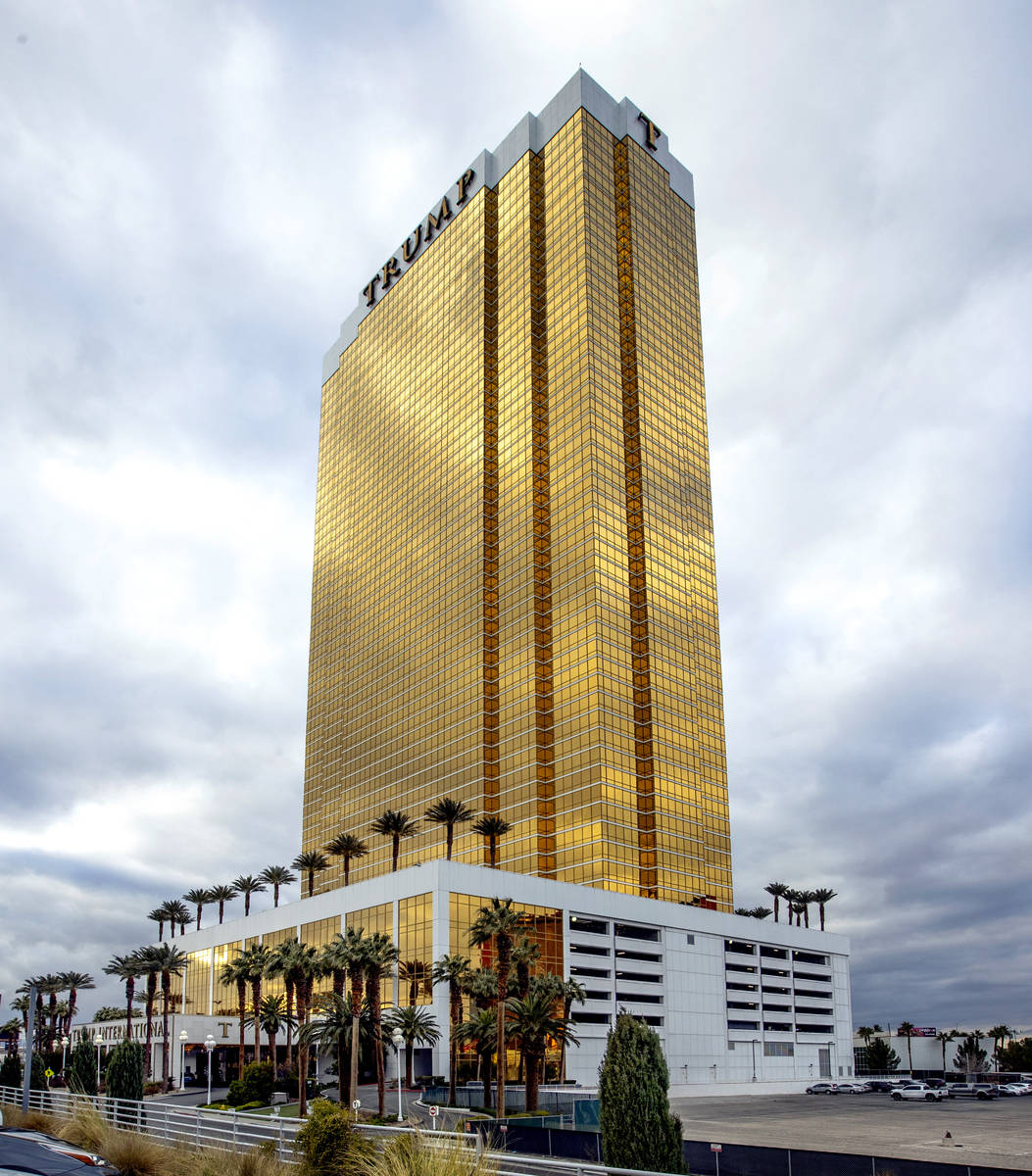 The Trump Tower are some of the condos about the Las Vegas Strip on Tuesday, Jan. 26, 2021, in ...