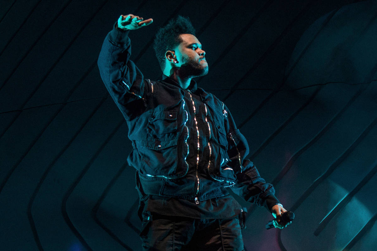 The Weeknd performs at the Coachella Music & Arts Festival at the Empire Polo Club on Frida ...