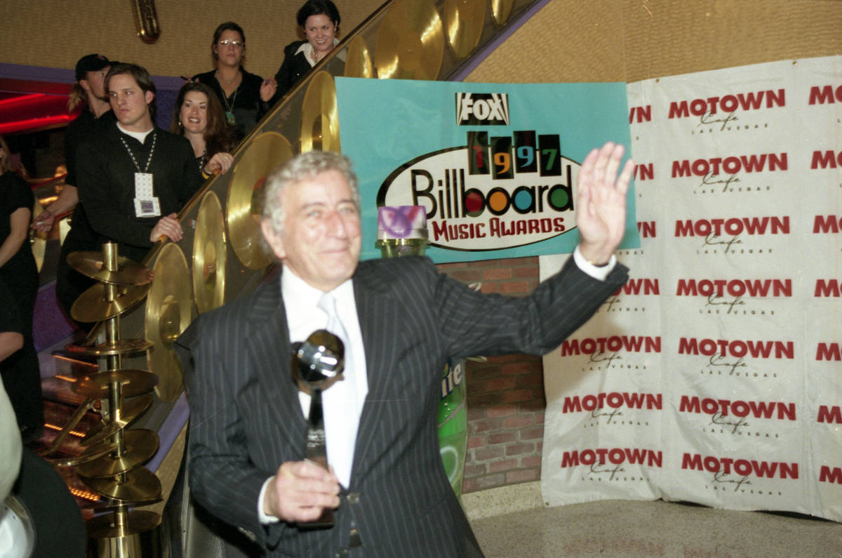 Legendary singer Tony Bennett appears during the eighth annual Billboard Music Awards (BMA) sho ...