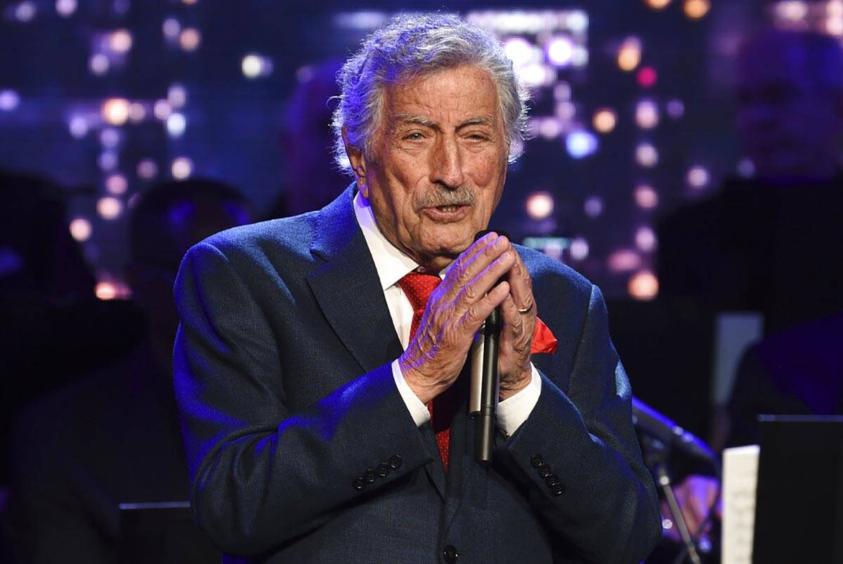 Singer Tony Bennett performs at the Statue of Liberty Museum opening celebration in New York on ...
