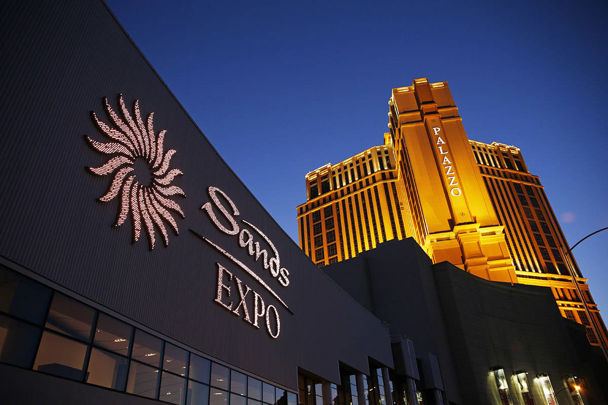 The Sands Expo and Convention Center and The Palazzo in Las Vegas. (AP Photo/John Locher, File)