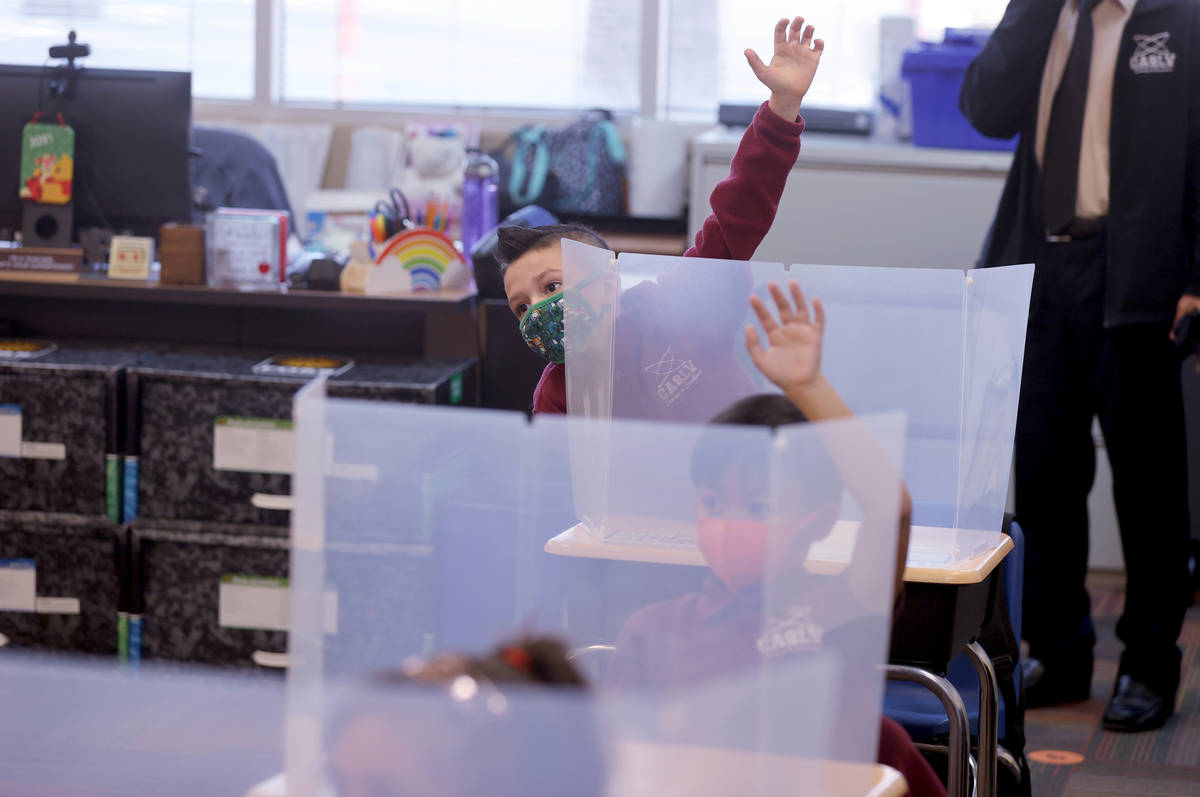 Draiden Bailey, 7, during school at Coral Academy of Science Las Vegas' Centennial Hills campus ...