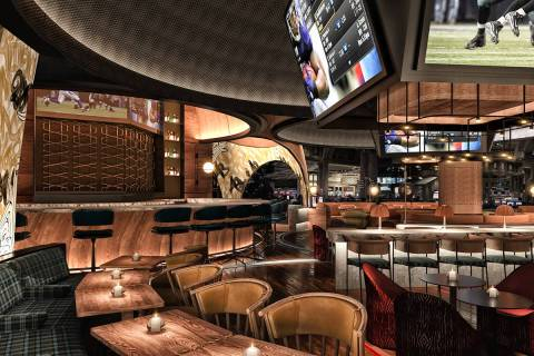 An artist's rendering of what Stadia's interior will look like. (Rockwell Group)