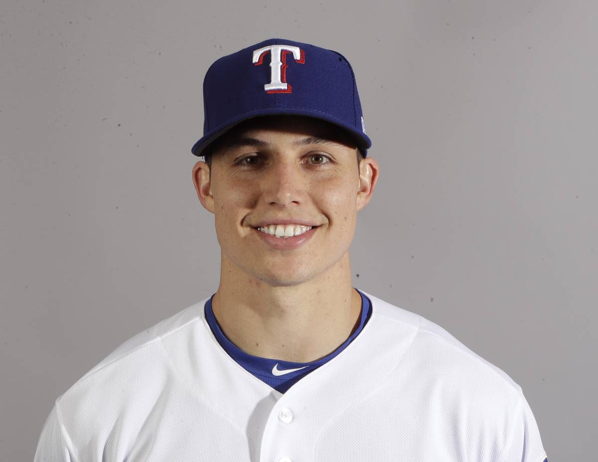 This is a 2018 photo of infielder Drew Robinson of the Texas Rangers baseball team. This image ...