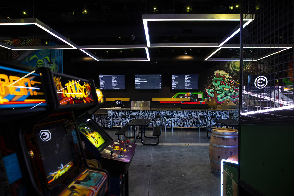 A view of first level of the Emporium arcade bar at Area15 in Las Vegas on Thursday, Feb. 4, 20 ...