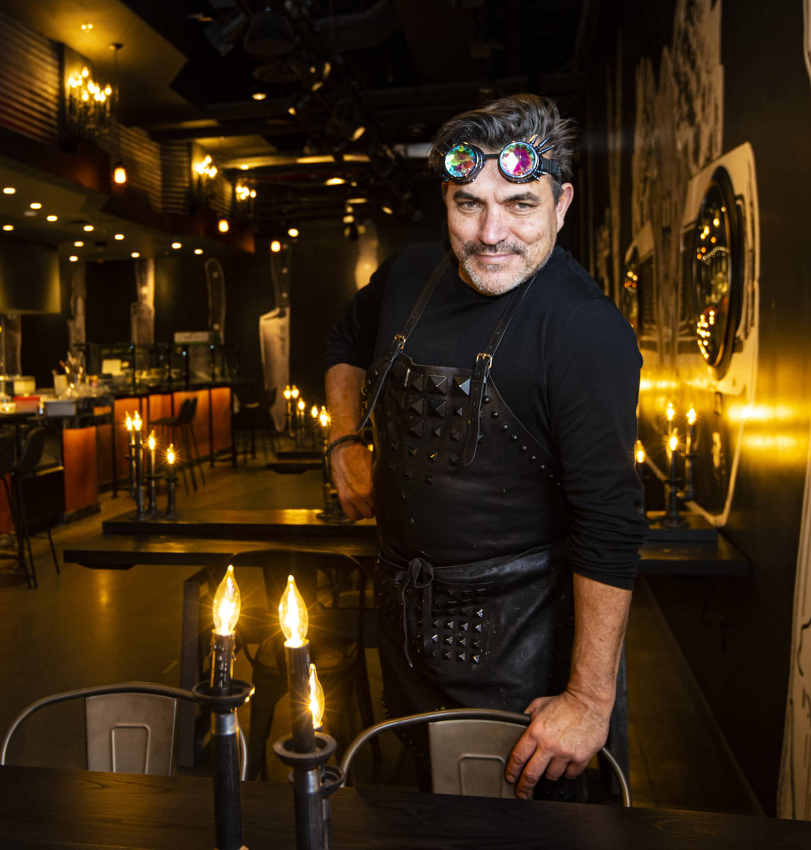 Chef Todd English poses for a portrait in his new restaurant, The Beast, at Area15 in Las Vegas ...