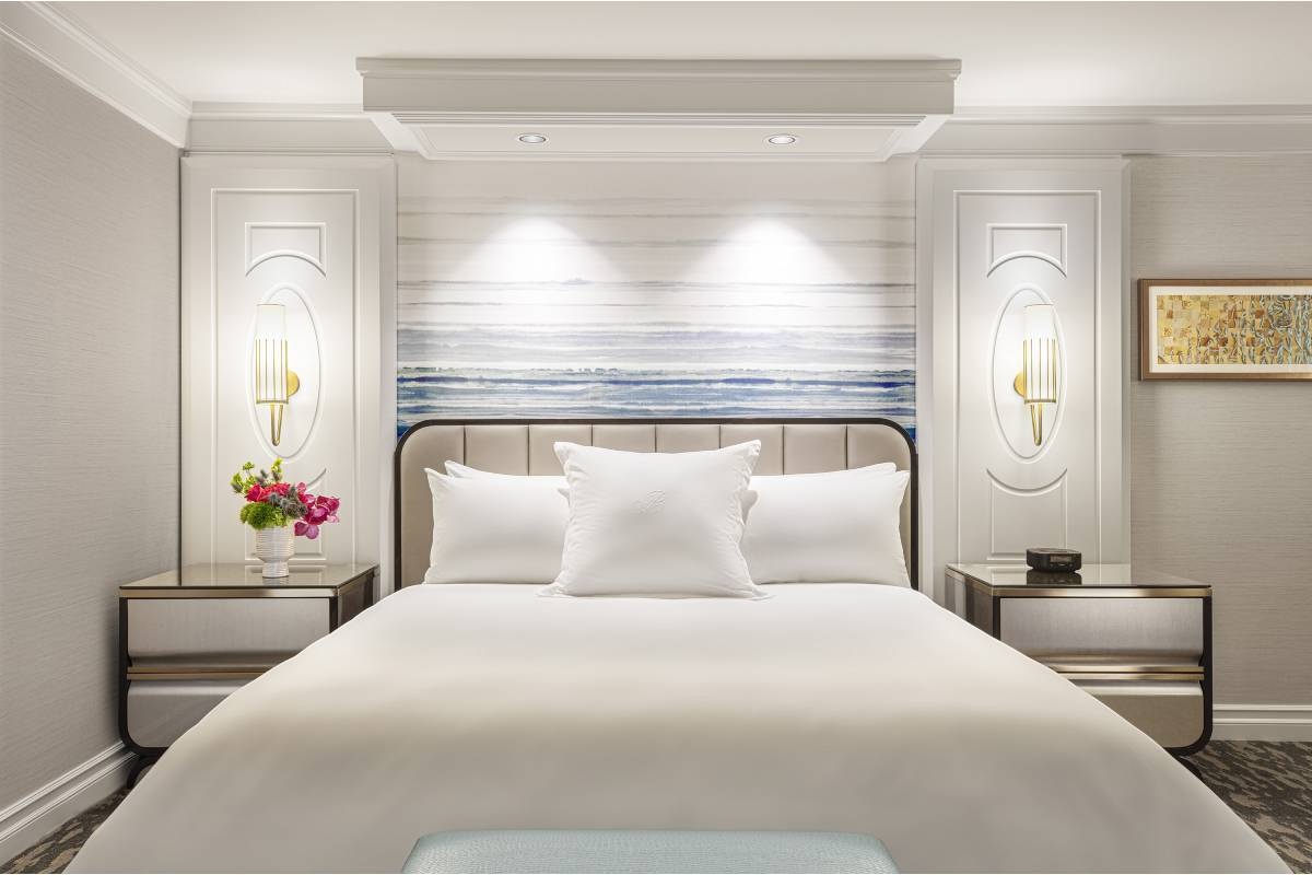 A Bellagio guest room after renovations. (Courtesy, MGM Resorts International)