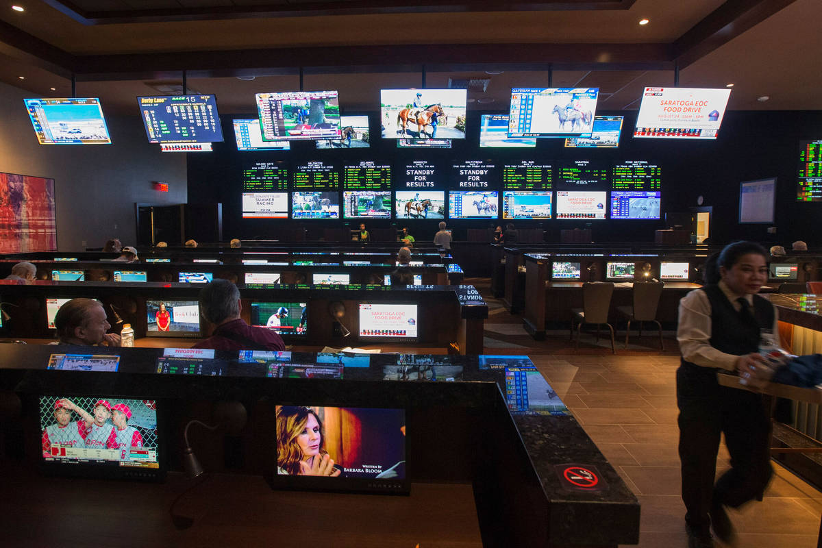 Palace Station sportsbook, shown on Thursday, Aug. 23, 2018. Richard Brian Las Vegas Review-Journal