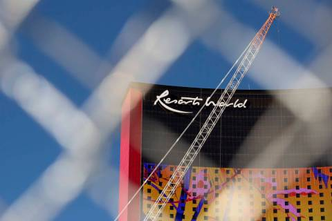 Resorts World is under construction on Friday, Feb. 5, 2021, in Las Vegas. (Ellen Schmidt/Las V ...