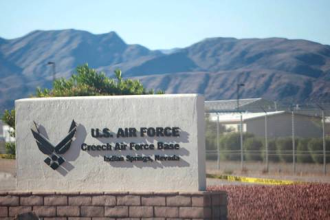 Creech Air Force Base in Indian Springs. (Las Vegas Review-Journal)