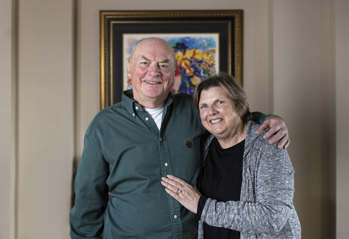 Lynn Fetterly, left, and wife Melody credit monoclonal antibody treatment with saving their liv ...
