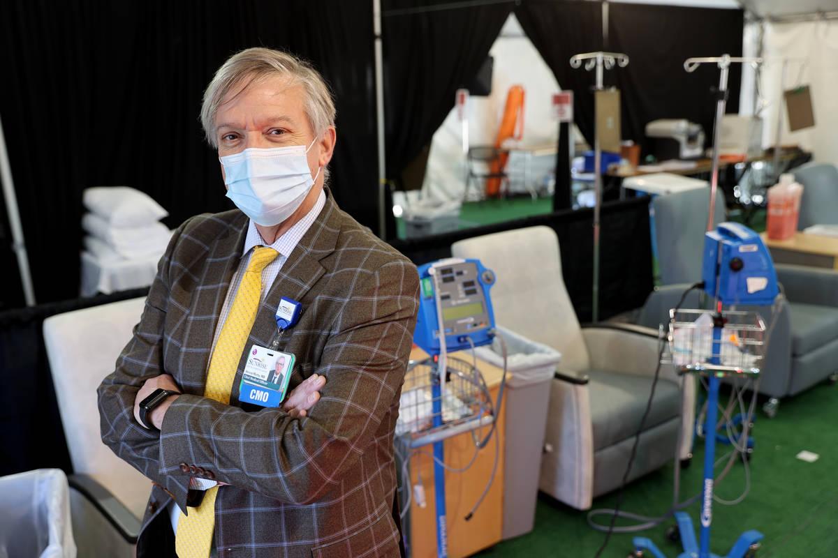 Dr. Steven Merta, chief medical officer at the mononclonal antibody treatment clinicat Sunrise ...