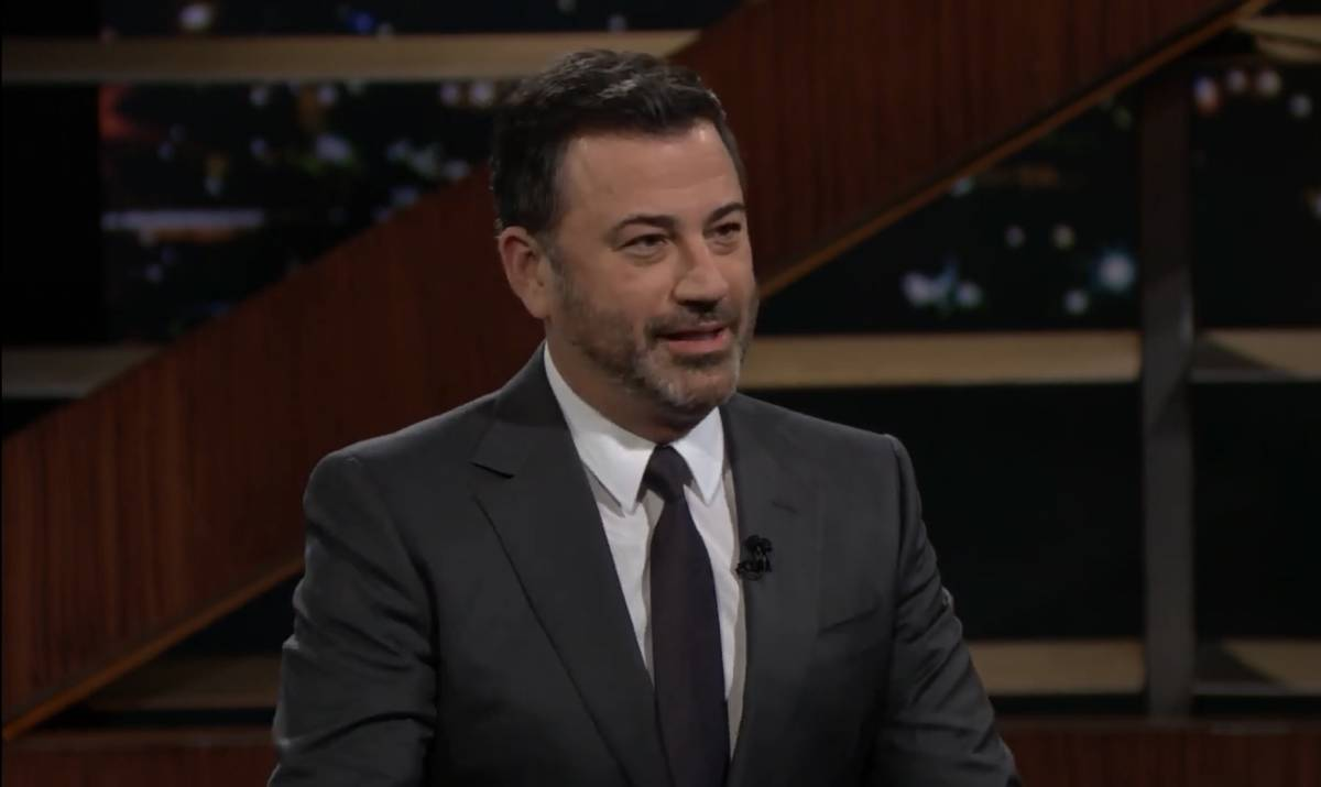 """Jimmy Kimmel is shown in screen catch during the broadcast of HBO's """"Real Time With Bill Maher"""" ..."""