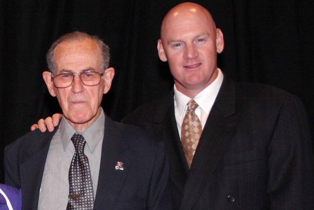 Inductees Lou Pisani, left, and Matt Williams attend the Southern Nevada Hall of Fame induction ...