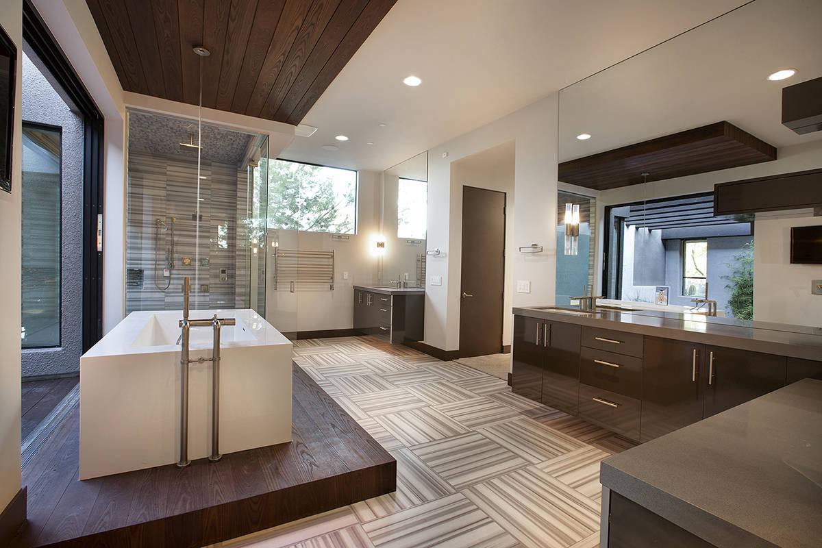 """""""Some of the valley's new builds are integrating the spa-like bathrooms out in the open wit ..."""