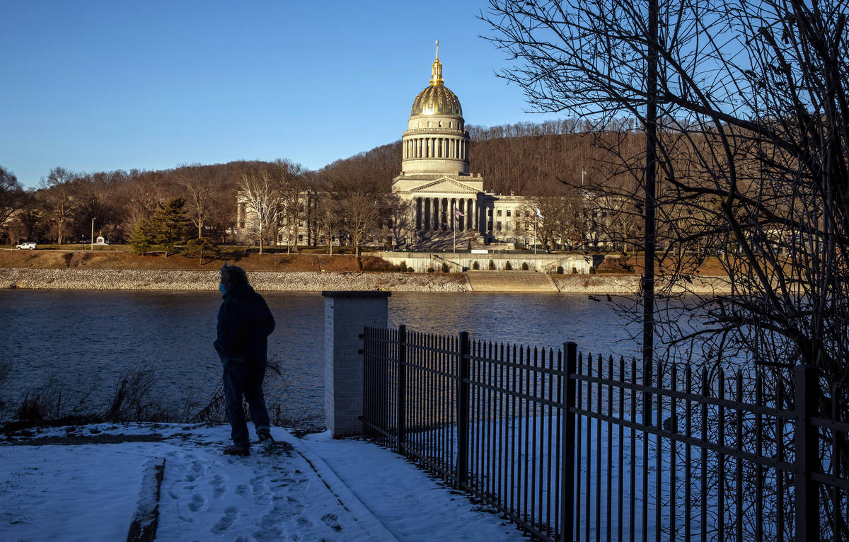 The West Virginia Capitol Building in the late-day light on Wednesday, Feb. 3, 2021, in Charles ...